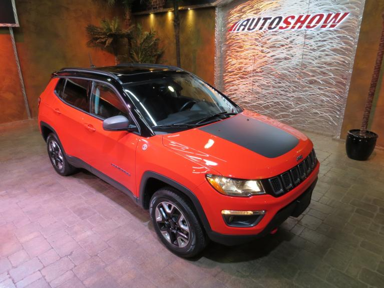 Used 2018 Jeep Compass Trailhawk *Pano Roof, Nav, Beats Audio!* for sale $27,600 at Auto Show Sales and Finance in Winnipeg MB